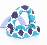 Savvy Curls blue quatrefoil convertible curling hair wrap