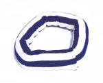 Savvy Curly navy strip single curling hair wrap