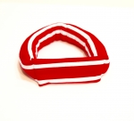 Savvy Curls red stripe single curling headband wrap