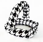 Black White Houndstooth Convertible