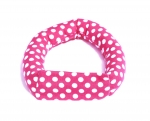 Savvy Curls pink dot single curling hair wrap